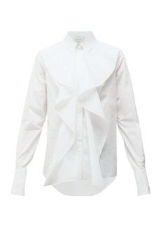 Alexander McQueen Ruffled cotton-poplin shirt