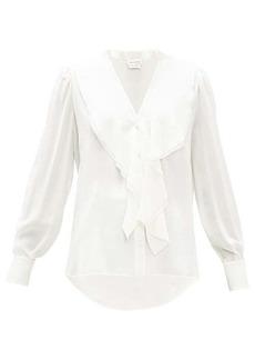 Alexander McQueen Ruffled silk-georgette shirt