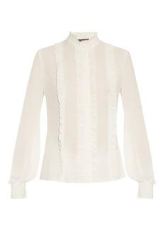 Alexander McQueen Ruffled silk-georgette blouse