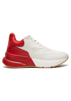 Alexander McQueen Runner raised-sole low-top leather trainers