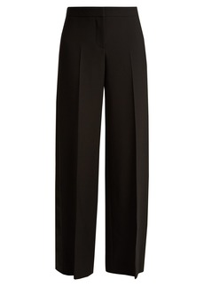 Alexander McQueen Satin-panel wide-leg tuxedo trousers