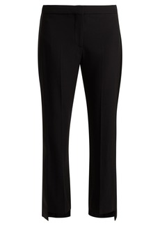 Alexander McQueen Satin-striped crepe tuxedo trousers