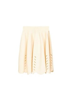 Alexander McQueen Scalloped knitted mini skirt
