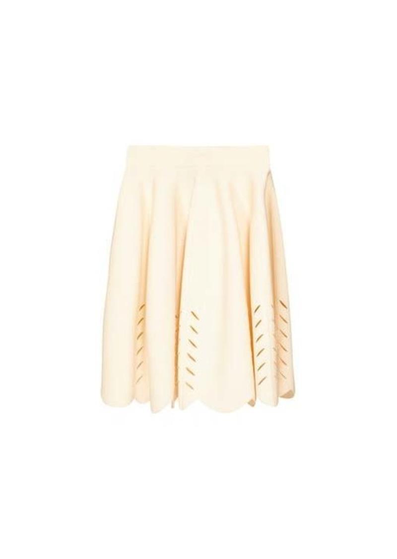Alexander McQueen Scalloped knitted mini skirt