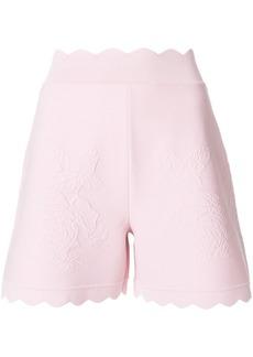 Alexander McQueen scalloped shorts - Pink & Purple