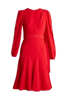 Alexander McQueen Scarf-neck crepe dress