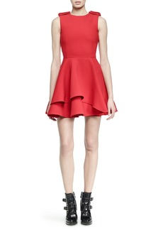Alexander McQueen Scuba Fit-and-Flare Dress