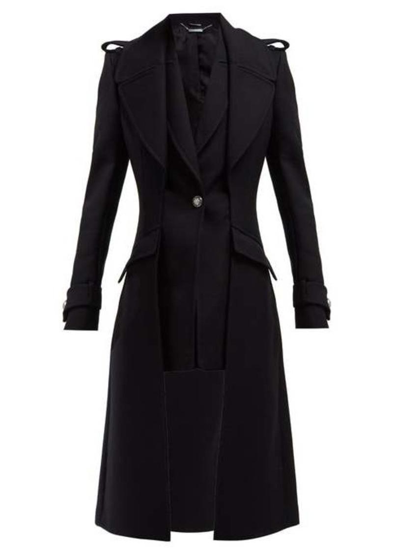 Alexander McQueen Scuba wool-blend military-style coat
