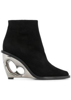 Alexander McQueen sculpted heel boots - Black