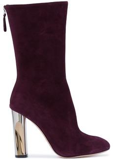 Alexander McQueen sculpted heel fitted boots - Pink & Purple
