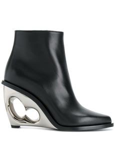 Alexander McQueen sculpted wedge boots - Black