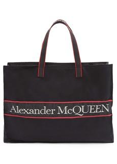Alexander McQueen Selvedge Logo East/West Tote