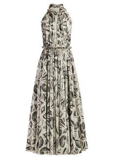 Alexander McQueen Shell-print silk gown
