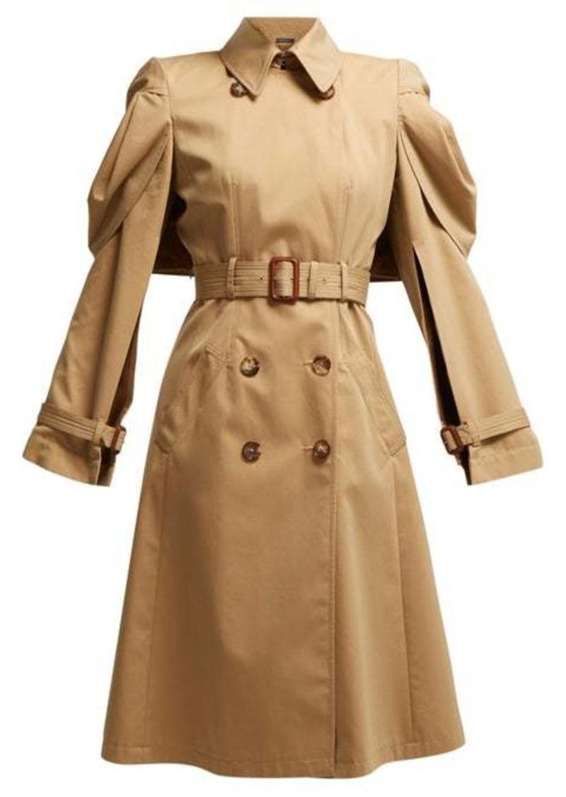 Alexander McQueen Shell-sleeve cotton-gabardine trench coat