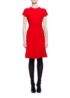 Alexander McQueen Short-Sleeve Crewneck Flare-Hem Dress