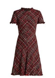 Alexander McQueen Short-sleeved tweed dress