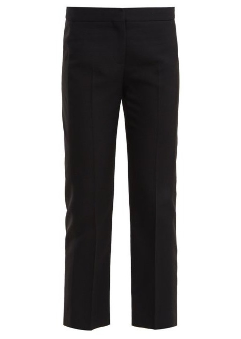Alexander McQueen Side-panel wool-blend cropped trousers