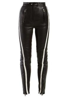 Alexander McQueen Side-stripe leather trousers