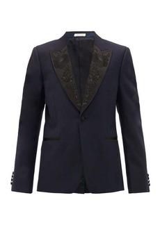 Alexander McQueen Silk-trimmed wool and mohair-blend tuxedo jacket