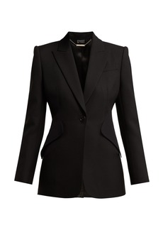 Alexander McQueen Single-breasted crepe blazer
