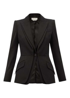 Alexander McQueen Single-breasted grain-de-poudre wool jacket
