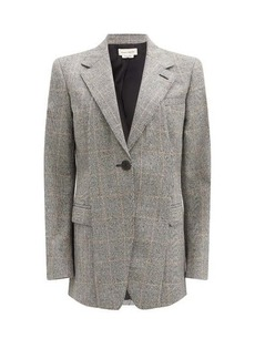 Alexander McQueen Single-breasted Prince of Wales-check jacket