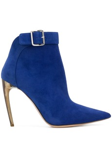 Alexander McQueen single buckle ankle boots - Blue