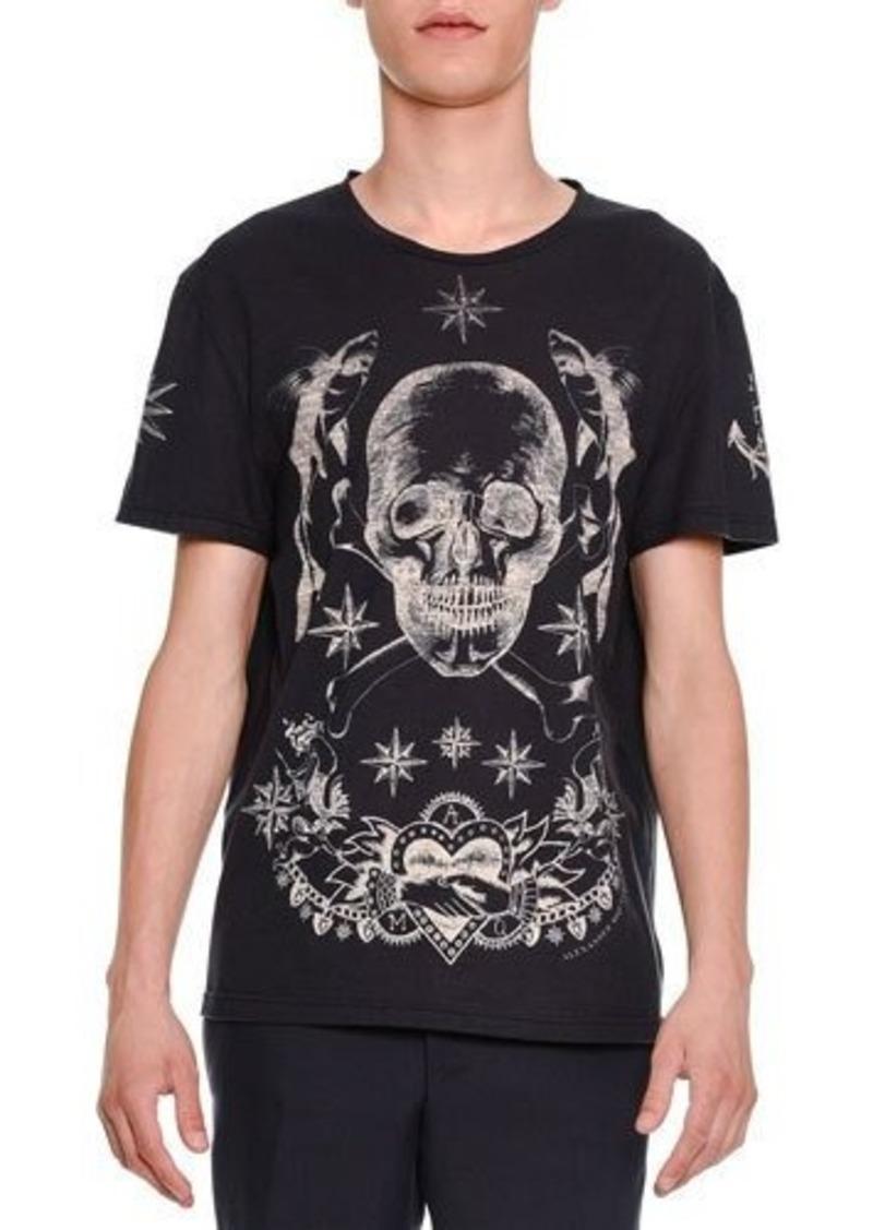 Alexander McQueen Skull & Star Graphic Short-Sleeve T-Shirt
