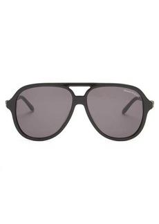 Alexander McQueen Skull aviator acetate and metal sunglasses