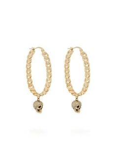 Alexander McQueen Skull-drop chain-hoop earrings