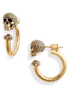Alexander McQueen Skull Huggie Hoop Earrings