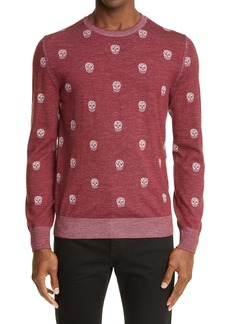 Alexander McQueen Skull Jacquard Wool Sweater