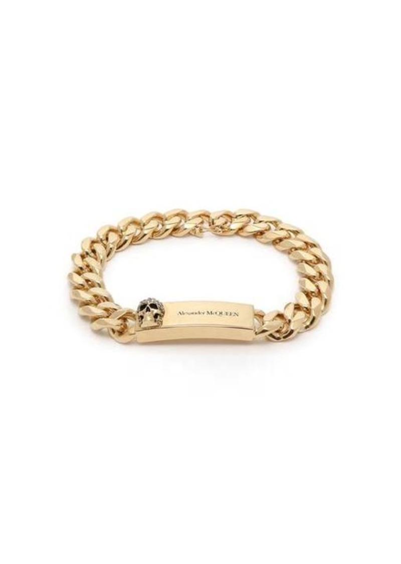 Alexander McQueen Skull-plaque chain bracelet