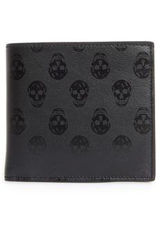 Alexander McQueen Skull Print Leather Bifold Wallet
