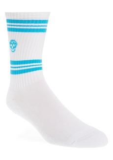 Alexander McQueen Skull Stripe Crew Socks