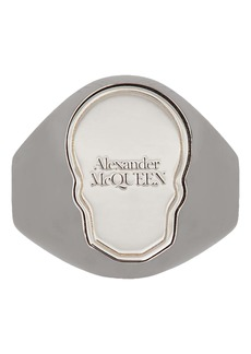 Alexander McQueen Skull Tag Ring