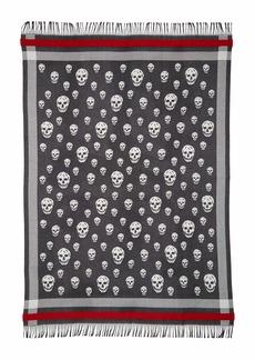 Alexander McQueen Skull Wool & Cashmere Blanket Scarf