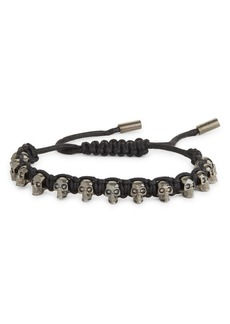 Alexander McQueen Skull Woven Cord Bracelet