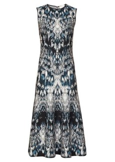 Alexander McQueen Sleeveless crystal-jacquard midi dress