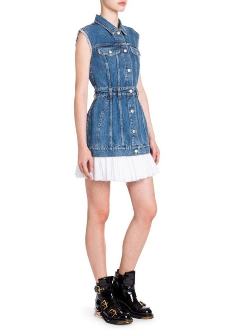8fb9e9cb88 Alexander McQueen Sleeveless Denim Mini Dress