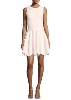 Alexander McQueen Sleeveless Floral-Embossed Dress