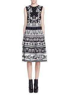 Alexander McQueen Sleeveless Floral Jacquard Dress