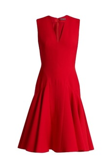Alexander McQueen Sleeveless wool and silk-blend dress