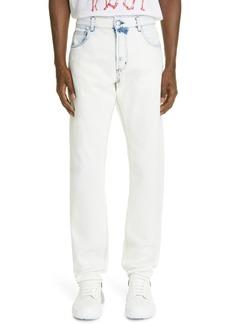 Alexander McQueen Slim Fit Bleached Jeans