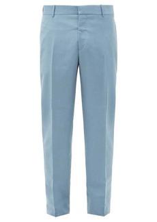 Alexander McQueen Slim-leg wool-blend trousers