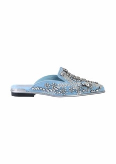 Alexander McQueen Slipper With Crystals