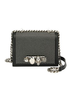 Alexander McQueen Small Jeweled Knuckle Flap Shoulder Bag