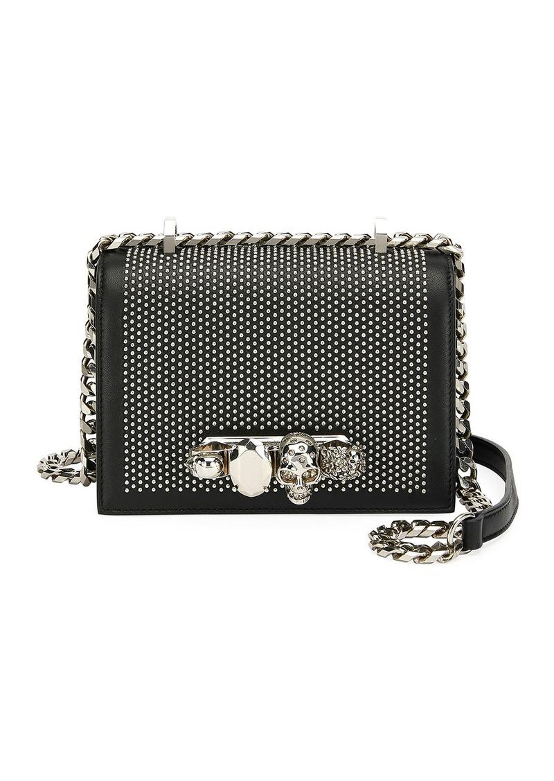 Alexander McQueen Small Jeweled Knuckle Flap Shoulder Bag