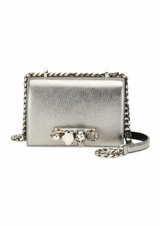 Alexander McQueen Small Metallic Jewelled Knuckle Flap Shoulder Bag