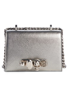 Alexander McQueen Small Metallic Leather Crossbody Bag